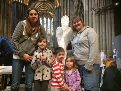 10000 angels installation Lichfield Cathdral Peter Walker