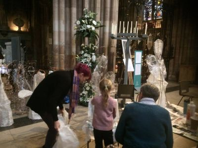 10000angels installation Lichfield cathedral peter walker