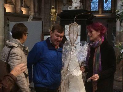 10000angels installation Lichfield cathedral